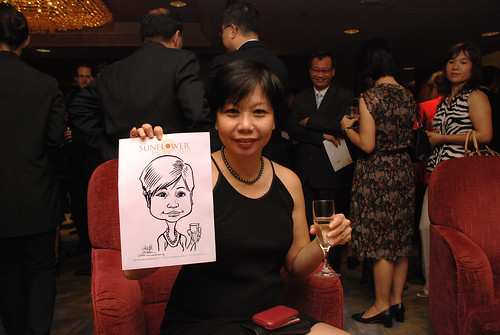Caricature live sketching for The DPH Sunflower Ball 2010 -2