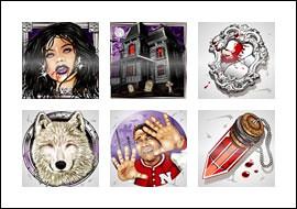 free Vampire Vixen slot game symbols