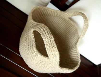 Beaded Jute Basket - AllFreeCrochet.com - Free Crochet Patterns