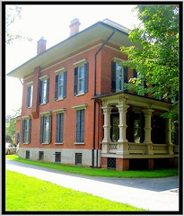 Morgan-Manning House ~ Brockport, NY (Onasill ~ Bill Badzo) Tags: county street new york house ny tree home architecture creativity photography canal state main entrance style historic veranda cupola porch monroe shutters mansion erie morgan registry preservation manning wealth apps ironworks 1850 italianate brockport ipad nrhp onasill