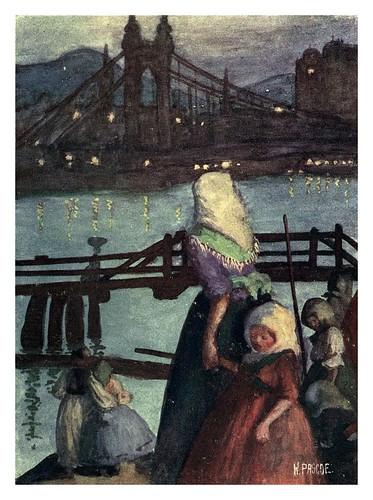 007-Noche en el Danubio mirando hacia Buda-Hungary and the Hungarians 1908- Bovill W.B Forster