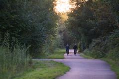 Cyclists (kh1234567890) Tags: uk england manchester evening pentax cyclepath 50200mm wr k7 fallowfieldloop smcpda50200mmf456edwr smcpentaxda50200mmf456edwr