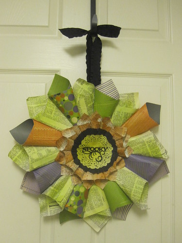 5061903856 4c00f645c9 Freebie Friday   Rolled Paper Wreath