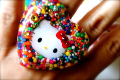 Hello Kitty Candy Ring Bling (athinalabella1) Tags: hello pink paris cute glass yellow cake marie glitter hearts french costume spring yummy rainbow ribbons colorful neon yum candy heart princess sweet bears kitty kitsch funky jewelry mama pop pearls sugar ring lolita cupcake fantasy bakery bow kawaii valentines cameo glam antoinette ribbon chic bling sweethearts etsy dots lollipop gummi licorice drama suga tulle couture bows marieantoinette parisian gumballs whimsical frilly candyland conversationhearts pedestal neovictorian shabby frou girlygirl cupcakesprinkles confettisprinkles athinalabella
