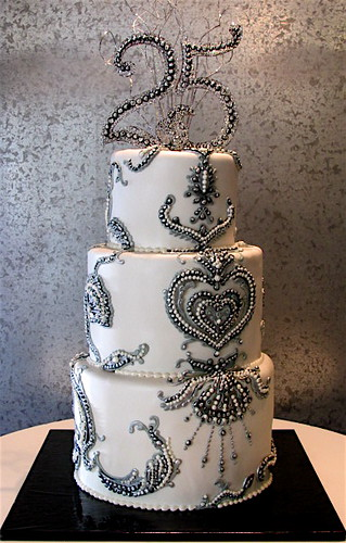 Beaded Silver Anniversary