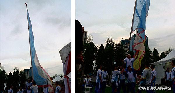 Flag balancing performance