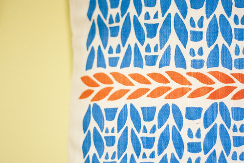 Knit Print Cushion by Justine Ellis