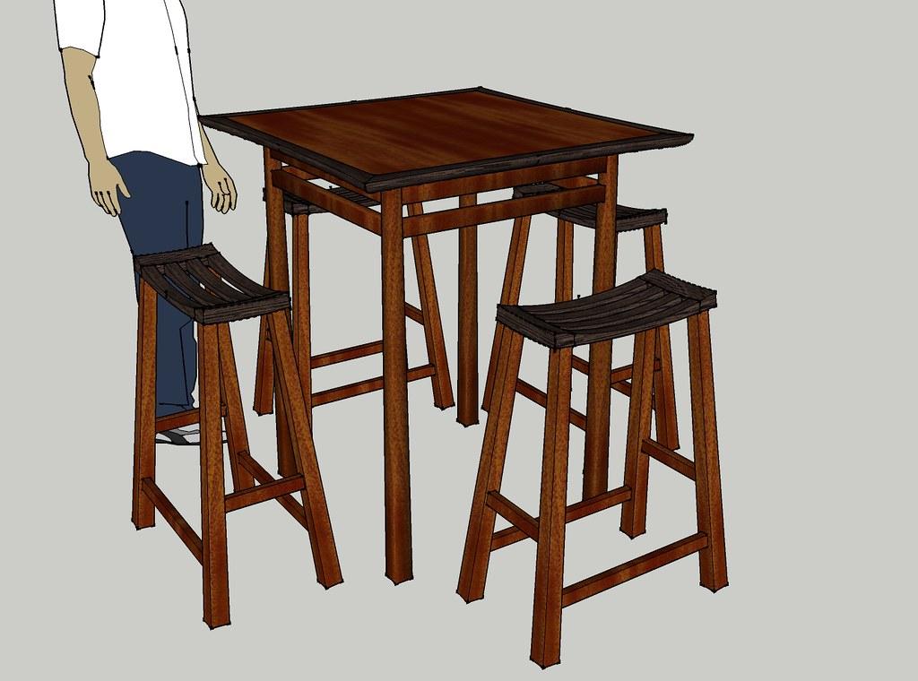 Asian Bar Table