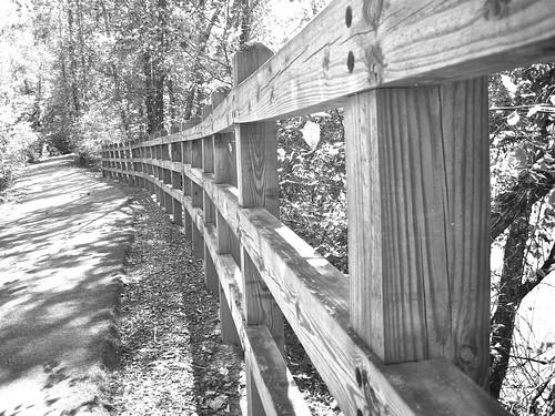 B&W fence Catawba Greenway