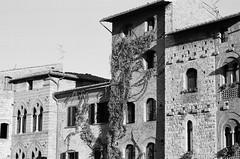 Piazza de la Cisterna (I) (trilanes) Tags: bw white black blanco nikon san italia gimignano kodak tmax negro bn 200 tuscany 100 nikkor toscana 80 80200mm 80200 f60 80mm 200mm tmx afd 100tmx f4556 nikonf60 s004 nikf60tmx