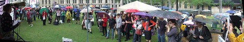 Panorama, Pro Choice Rally, Queens Park, George and Elizabeth Sts, Brisbane, Queensland, Australia 101009-1