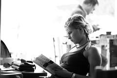 Focused Candid (espressoDOM) Tags: bw woman girl beauty lady female blackwhite interestingness swoon candid explore barefootcoffee explore2 isawthis explore14 101010 coffeecandid