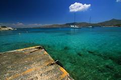 Pier and sea (Marite2007) Tags: blue sea seascape nature water islands pier scenery mediterranean view natural aegean scenic greece environment idyllic breathtaking saronic aegina