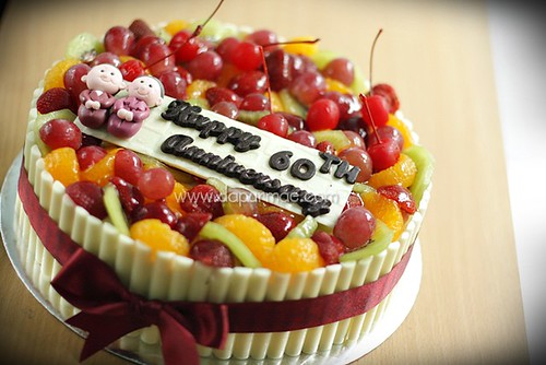 Lemon Cheese Cake w/ Fruits Topping