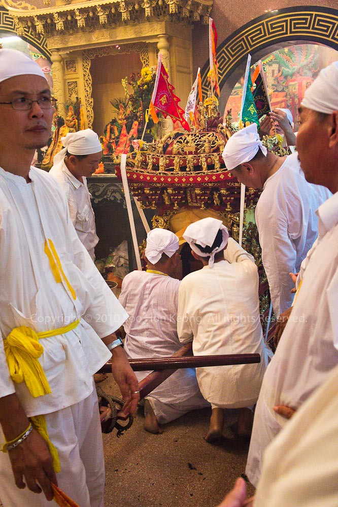 Prepare for Nine Emperor Gods Procession @ Ampang, Malaysia