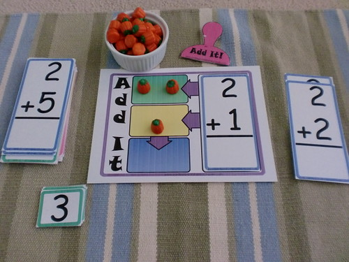 Add It! Math Game from Confessions of a Homeschooler (Photo from the Adventures of Bear)