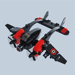 Taitan Zero - Sky Fighter (Fredoichi) Tags: plane fighter lego space military micro skyfi microscale dieselpunk skyfighter fredoichi