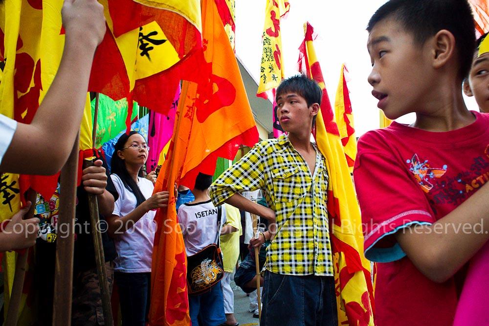 Flag-Bearer @ Nine Emperor Gods Celebration, Ampang, Malaysia