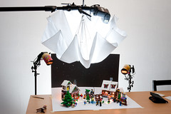 Lego Christmas card setup (VictorMk1 (read my profile)) Tags: christmas favorite umbrella canon toys lego card setup pringles 580ex kaart manfrotto kerst bts kerstkaart speelgoed faved speedlite alienbees 430ex 10199 10216 strobist cybersyncs