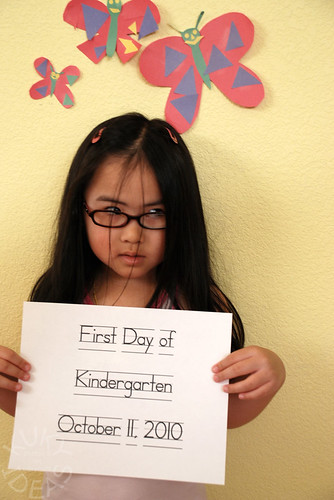 First day of kindergarten. I'm so over this