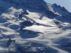 Zoom of Rainier glaciers from Tolmie.
