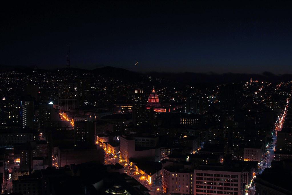 Moonrise, San Francisco