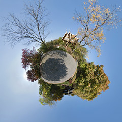 Bonsai Planet - Little Planet Munich (daitoZen) Tags: park autumn sky panorama sun color colour tree nature leaves germany garden munich mnchen outdoors bayern deutschland bavaria photography licht pagoda leaf europe fotografie view pentax pano tag herbst natur oberbayern himmel 360 sala panoramic fisheye westpark thai planet bonsai change munchen 1983 grad blatt sonne bltter bume schatten baum 360x180 draussen songkran gegenlicht iga stereographic hugin  lichterfest kugelpanorama parkanlage 1017mm littleplanet k20d international show little sphrisch asia panomaxx 4gi 5000x5000px gettyimagesgermanyq1