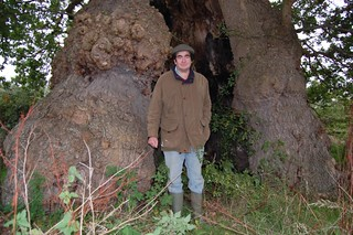 A proud landowner and his Amazing 11.1 metre girthed Oak
