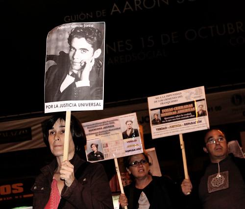 Concentración contra la impunidad del Franquismo (14/10/2010)