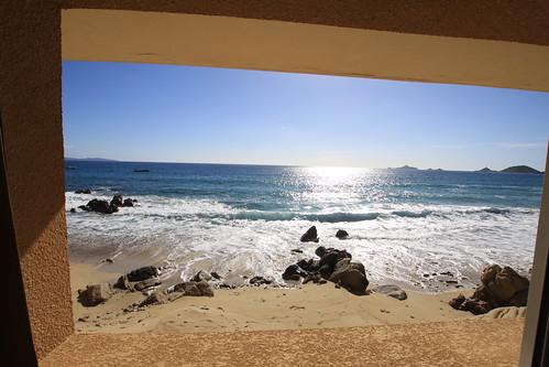 Vue sur mer depuis l'hôtel