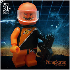 October 31 - Pumpktron Spaceman (Morgan190) Tags: halloween scary october advent calendar lego space astronaut creepy minifig custom 2010 m19 minifigure classicspace brickarms futuron morgan19 pumpktron