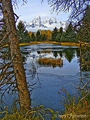Fall To Winter - Tetons In Transition (Jerry T Patterson) Tags: camping trees winter snow mountains color fall nature water outdoors jackson beaver explore patterson tetons schwabacher