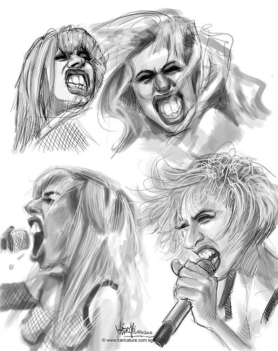 Lady Gaga thumbnail sketch studies