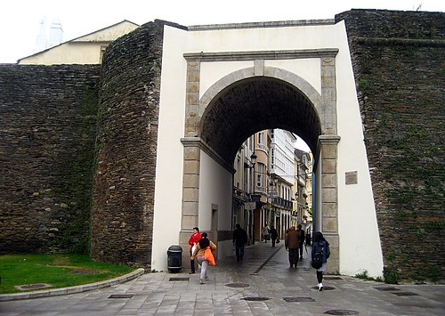 Gate in the Roman wall of Lugo, Spain