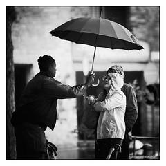 Man at work (Fabio Pianigiani) Tags: pioggia ombrello lavoro extracomunitario fabiopianigiani