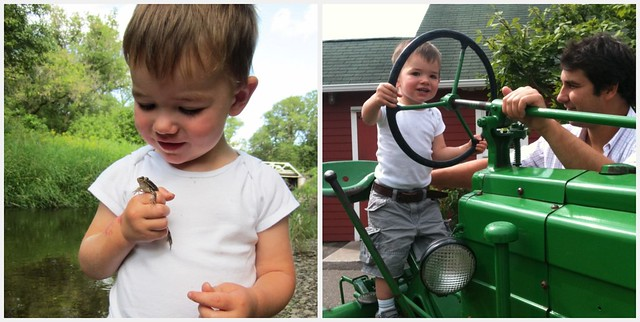 tractor collage