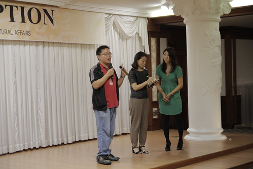 Me, talking at the Japan Reception