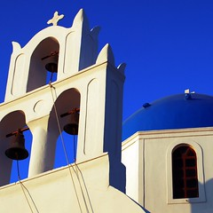 white beauty (The water nymph) Tags: light summer white church dusk santorini greece oia