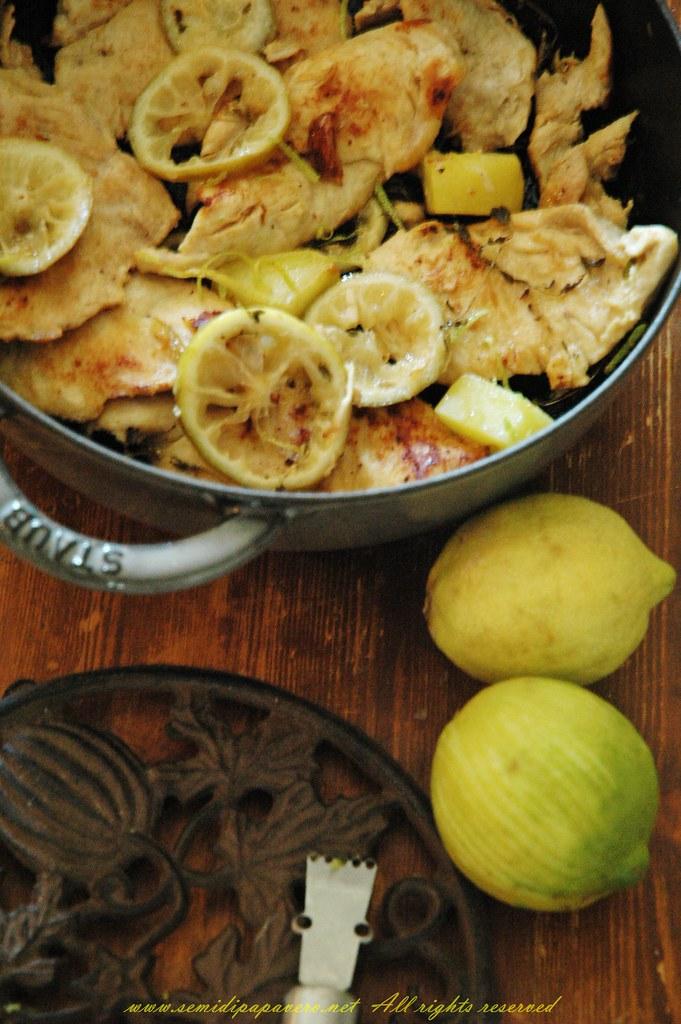 Pollo al limone caramellato