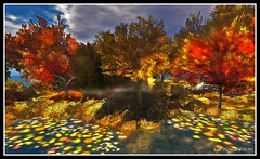 Embryo Lake (Leo Farshore - back, a work at a time -) Tags: autumn lake nature water garden grid sl secondlife embryo reflecion