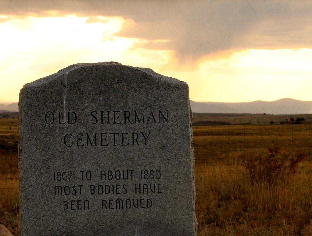 Sherman Cemetery Marker