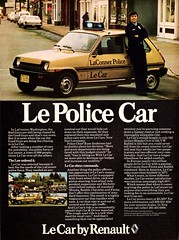 1978 Renault Le Police Car (aldenjewell) Tags: classic car vintage washington ad police historic renault advertisement le wa 1978 frenchcar laconner lecar nleaf laconnerpolice