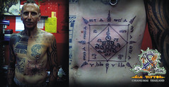 Sam Tattoo & Body Piercing In Chiang Mai Thailand | Many Designs / Original Work/ Magic Tattoo YANT Thai Style