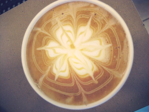 Latte art from Coffee by the Books