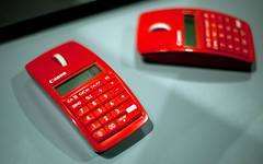 Canon X MARK I MOUSE (Eduardo Picado) Tags: red paris canon mouse expo mark x calculator souris calculatrice i