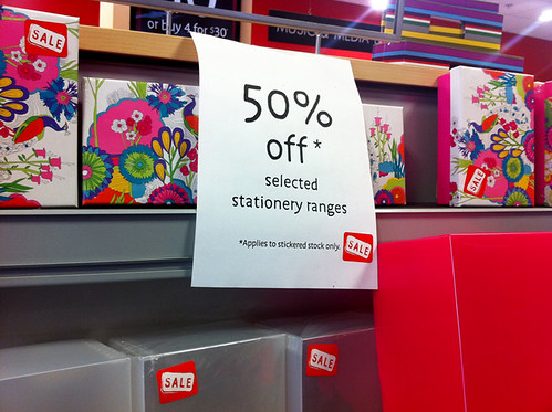 Stationery on Sale at Borders