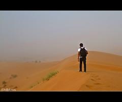 Search for Meaning (Sh@dows) Tags: trip travel mist fog canon walking landscape is photo shadows desert weekend walk uae journey 7d l friday ef f4 sanddunes ummalquwain shdows sarin 24105mm  ef24105mmf4isl searchformeaning sarinsoman   morningshoot canon7d nizhal     ummalqain