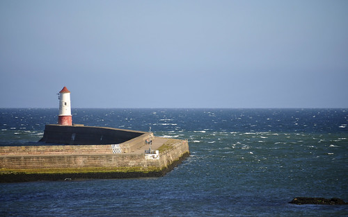 Lighthouse and Harbour Wall, Berwick upon Tweed