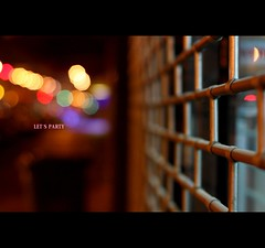 Life may not be the party we hoped for, but while we're here we should dance. (*karla) Tags: life party colour night canon 50mm dof bokeh