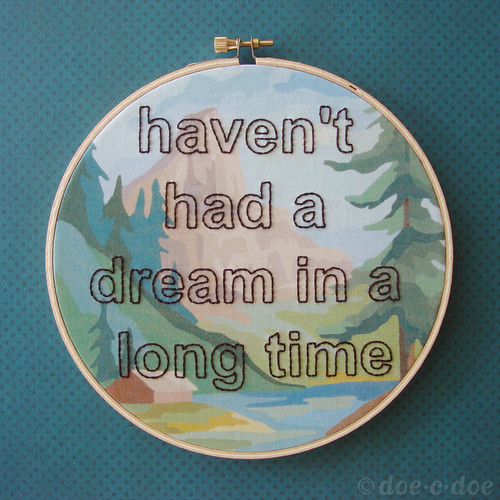 haven't had a dream custom hoop